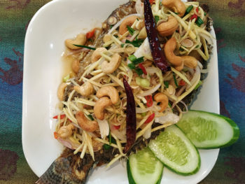 fish mango salad
