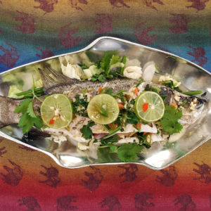 steamed lemongrass fish