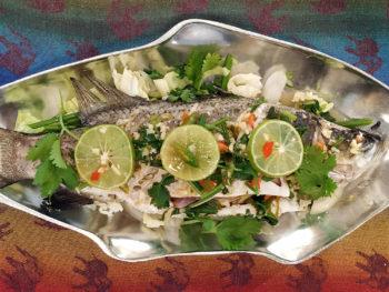 steamed lemongrass fish