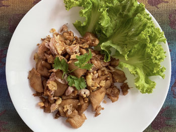 Thai garlic pork
